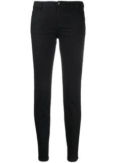 Armani denim logo tape skinny jeans
