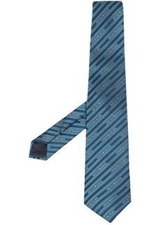 Armani diagonal stripe logo-print tie