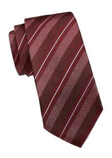 Armani Diagonal Stripe Silk-Blend Tie
