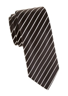 Armani Diagonal Stripe Silk Tie