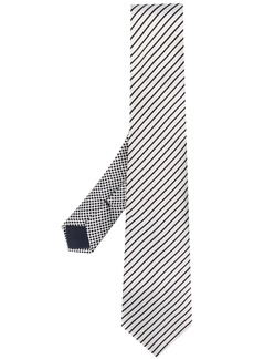 Armani diagonal striped tie