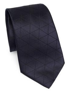 Armani Diamond Check Tie