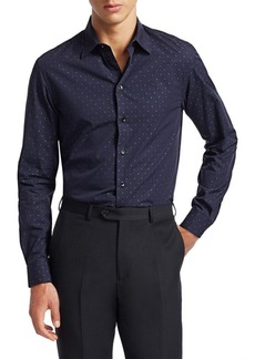 Armani Diamond Dot Button-Down Shirt