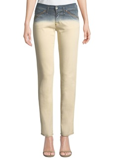 Armani Dip-Dyed Straight-Leg Denim Jeans