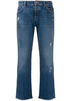 Armani distressed cropped jeans