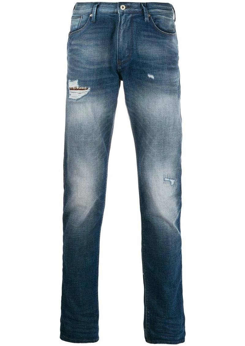 Armani distressed jeans