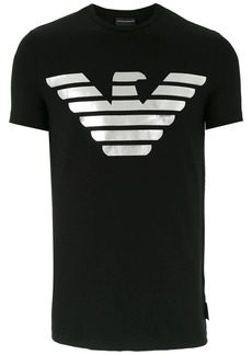 Armani distressed logo print T-shirt