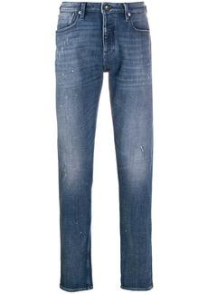 Armani distressed slim-fit jeans