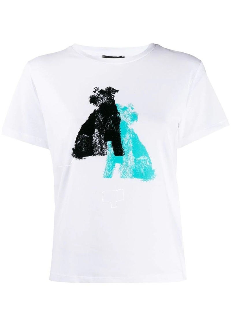 Armani Dogs-print T-shirt