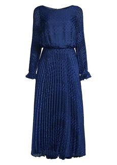 Armani Dotted Long-Sleeve Dress