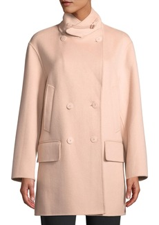 Armani Double-Breasted Cashmere Pea Coat