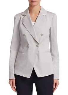 Armani Double-Breasted Cotton Gabardine Jacket