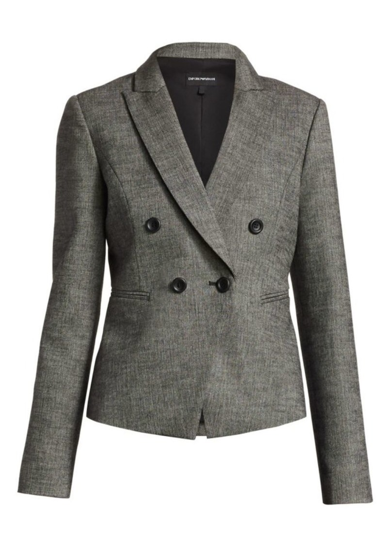 Double-Breasted Crop Blazer