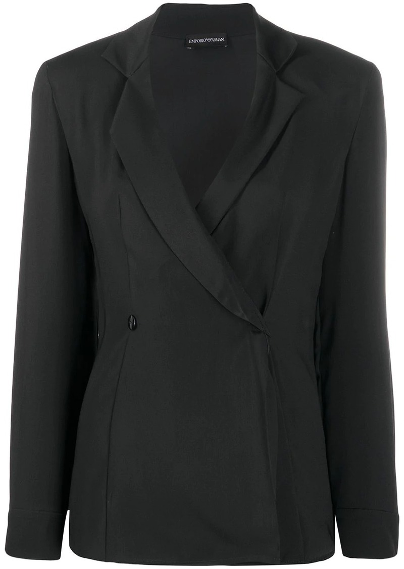 Armani double-breasted fitted blazer
