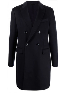 Armani double-breasted knitted coat