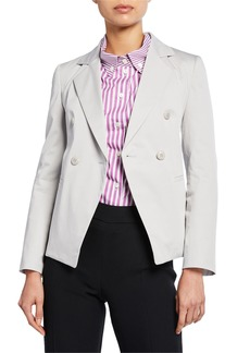 Armani Double-Breasted Stretch-Cotton Jacket