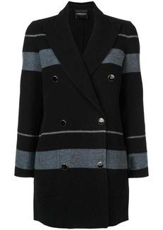 Armani double breasted striped coat