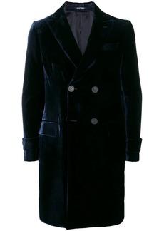 Armani double breasted velvet coat