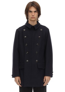 Armani Double Breasted Virgin Wool Peacoat