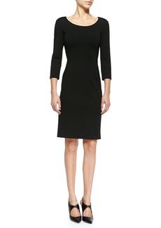 Armani Double-Face Jersey Sheath Dress