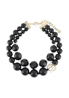 Armani double-layer beaded necklace