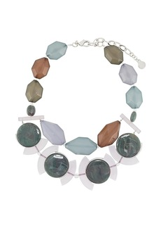 Armani double-layer gemstone necklace