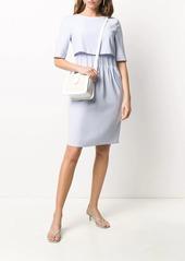 Armani double layer shift dress