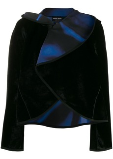 Armani draped collar velvet jacket