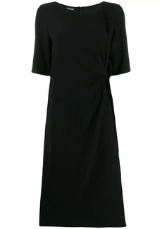 Armani draped detail dress