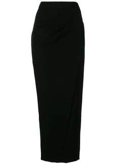 Armani draped pencil midi skirt