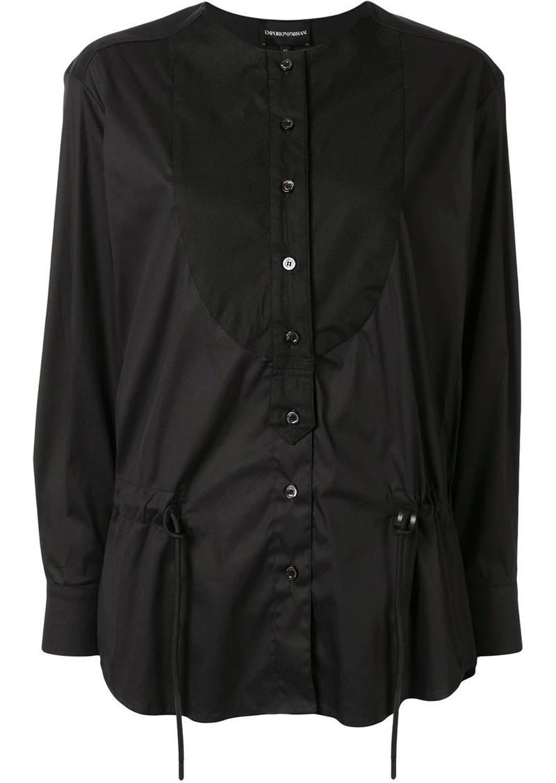 Armani drawstring poplin blouse