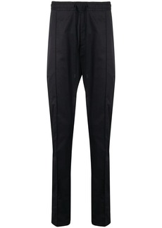 Armani drawstring straight leg trousers