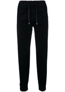 Armani drawstring tapered track pants