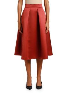 Armani Duchess Satin A-Line Skirt