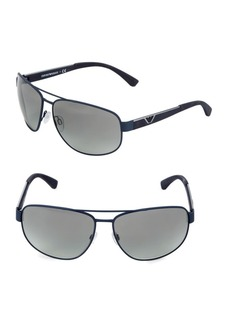 Armani EA2036 64MM Square Aviator Sunglasses