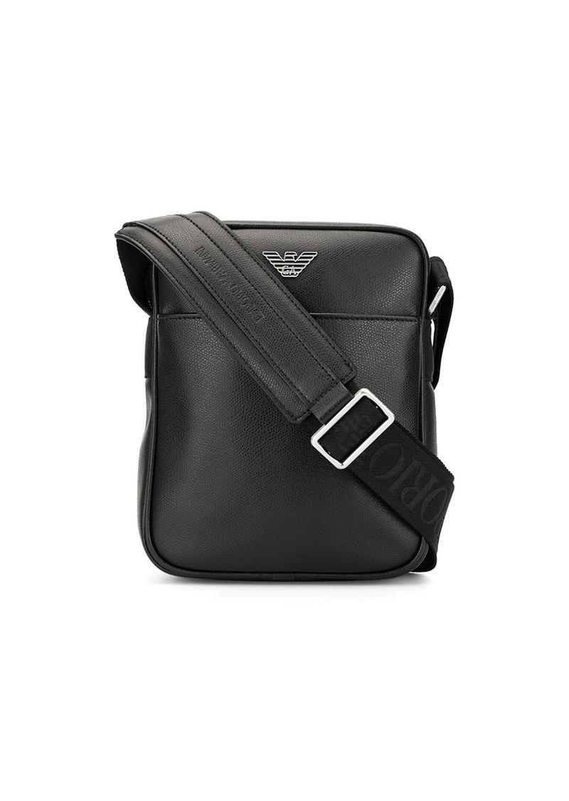 Armani eagle logo shoulder bag