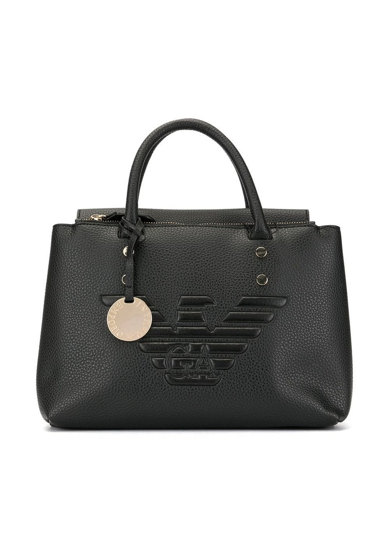 Armani eagle logo tote bag
