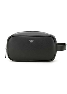Armani eagle logo wash bag