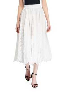 Armani Elastic Waist Plisse Full Skirt