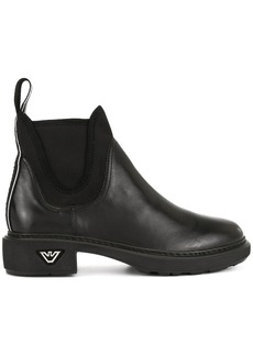 Armani elasticated side panel boots
