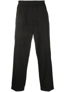 Armani elasticated waist straight trousers