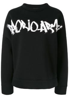 Armani embellished logo sweatshirt