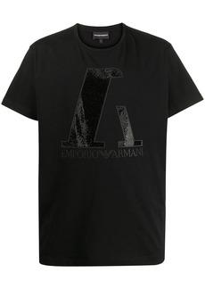 Armani embellished logo T-shirt