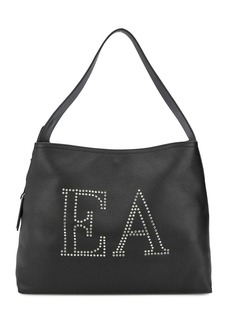 Armani embellished logo tote bag