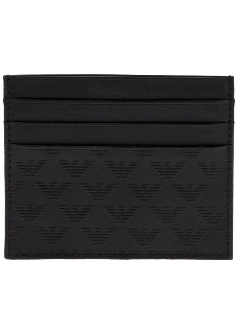 Armani emblem card wallet