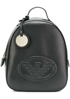 Armani embossed logo backpack