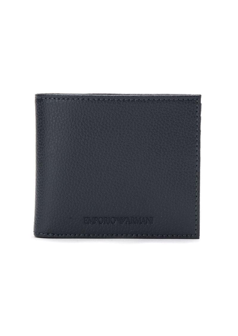 Armani embossed logo billfold wallet