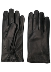 Armani embossed logo gloves