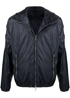 Armani embossed-logo lightweight jacket