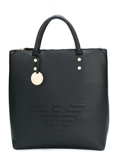 Armani embossed logo shoulder bag
